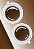 两个咖啡杯 | 光栅插图
