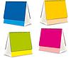 Vector clipart: blanks for Desktop calendars