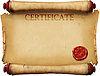 Certificate with wax stamp | Stock Illustration