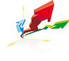 Vector clipart: Progress Business chart