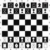 Vector clipart: Primitive chess set