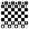 Vector clipart: Primitive chess set