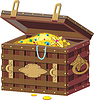 Chest with treasures | Stock Vector Graphics
