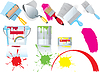 Vector clipart: Paint and tools