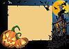 halloween background with frame