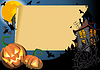 Vector clipart: Halloween Card with scroll frame