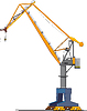 Vector clipart: big shipyard crane