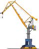Vector clipart: big shipyard crane