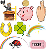 Vector clipart: Objects of Good Luck