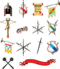 Vector clipart: Medieval weapon icons set