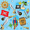 Vector clipart: pirate set