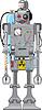 Vector clipart: fun reto robot