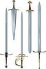 Vector clipart: swords