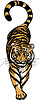 Vector clipart: Crouching Tiger