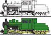 Vector clipart: An old locomotive