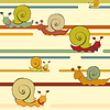 Vector clipart: retro style snail background