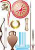 Vector clipart: ancient greek warrior set