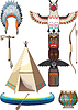 Vector clipart: American indian set