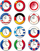 Vector clipart: Watch, at which flags of some countries