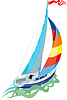 Vector clipart: Sailing - sail yacht