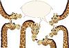 Vector clipart: A few giraffes background
