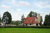 큰 굴뚝 옛날 시골 집 집 | Stock Foto