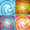 Vector clipart: spirals