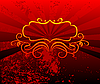 Vector clipart: Decorative red background
