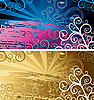 Vector clipart: abstract backgrounds