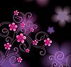 Векторный клипарт: розовый цветочный дизайн