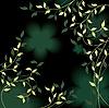 Vector clipart: green floral design