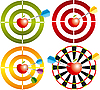 Vector clipart: apple as target
