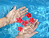 Hands in water | Stock Foto
