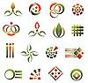 Set von Logo-Elementen
