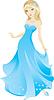 Векторный клипарт: Принс синий