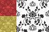 Векторный клипарт: цветочные фоны-орнаменты