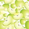 Векторный клипарт: бесшовных яблоко