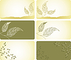 Vector clipart: labels with leaves