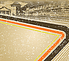Vektor Cliparts: Retro-Hintergrund mit der alten Burg