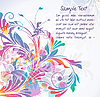 Vector clipart: Colorful floral background
