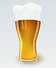 Vector clipart: Glass of beer with foam