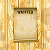 Poster wanted on wood planks | Stock Illustration