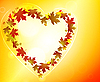 Vector clipart: Glowing Autumn background with heart