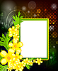 Vector clipart: Photo frame on floral background