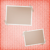 Vector clipart: blank frames for photo on the retro background