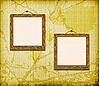 Vector clipart: Old wooden frames