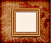 Vector clipart: Old wooden frame