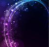 Векторный клипарт: Стилизованный абстрактный фон со светящимися линиями
