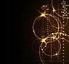 Stilisierter leuchtender Hintergrund mit digitalen Symbolen | Stock Vektrografik