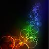 抽象的发光背景   向量插图